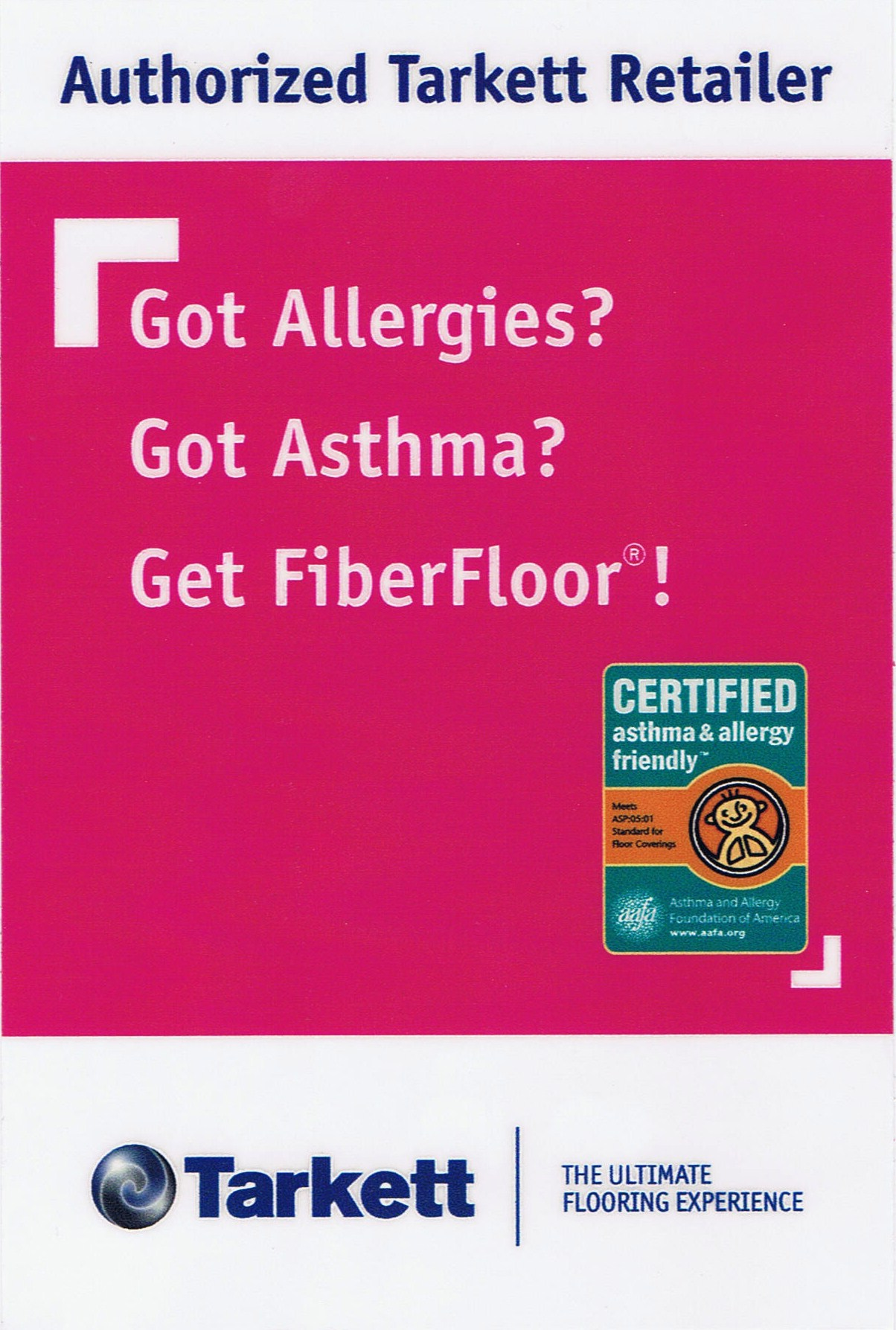 Now offering Certified asthma & allergy friendly flooring!