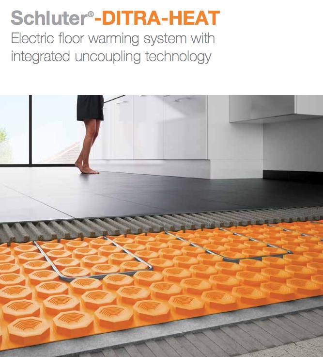 Heated Bathroom Tile: Heated Tile Floor Ditra